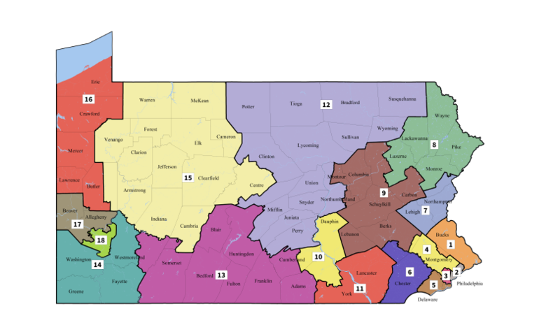 PA Congressional District Map 2018