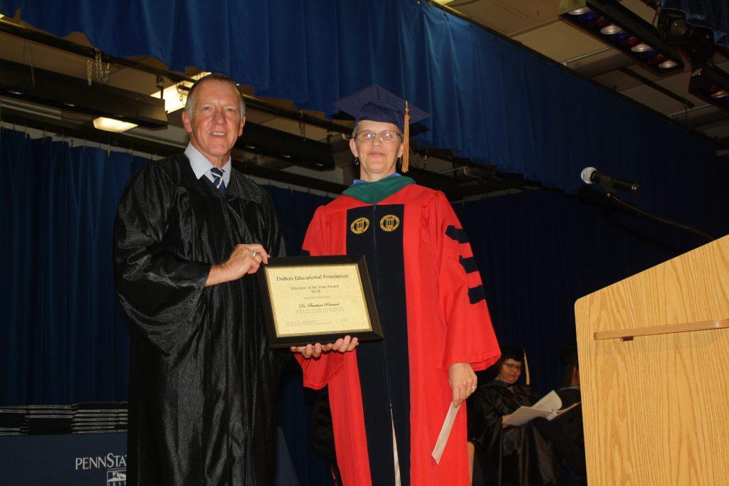 Penn State DuBois Barbara Reinard Educator of Year 2018