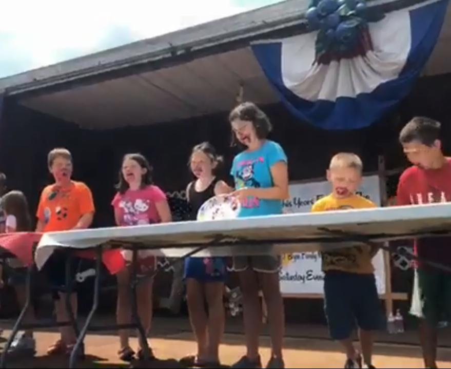 Reynoldsville Red White Blueberry 2018 kids pie eatig