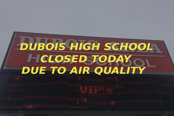 Dubois High School closed air quality