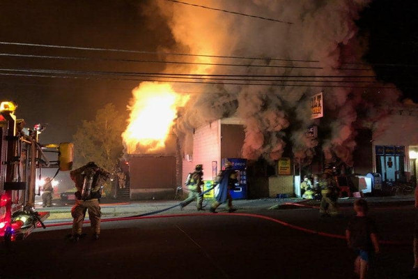 Holt Grocery Fire small