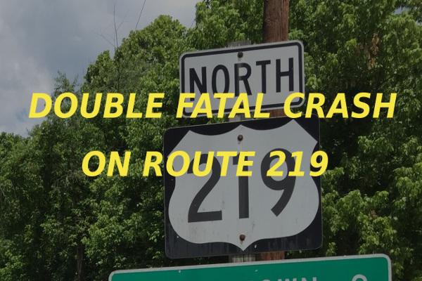double fatal crash Route 219