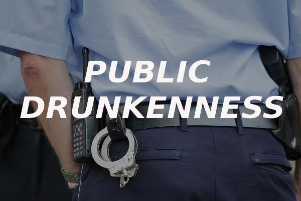 public drunkenness alcohol