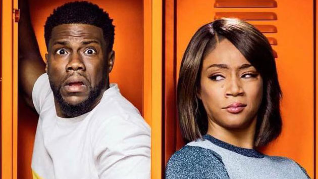 "Kevin Hart and Tiffany Haddish in ""Night School""; Universal"