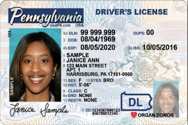 new PA license REAL ID