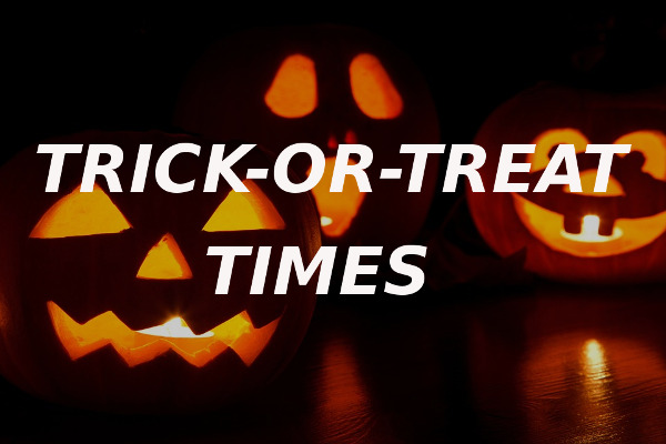 trick-or-treat times