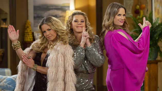 L-R: Candace Cameron Bure, Jodie Sweetin and Andrea Barber; Mike Yarish/Netflix