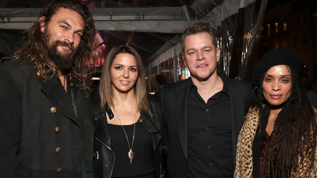L-R: Jason Momoa, Luciana Damon, Matt Damon and Lisa Bonet; Todd Williamson/Getty Images