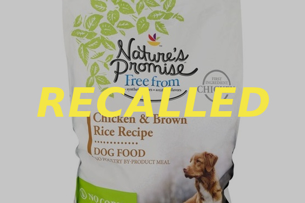 Natures Promise Chicken Brown Rice Dog Food recall