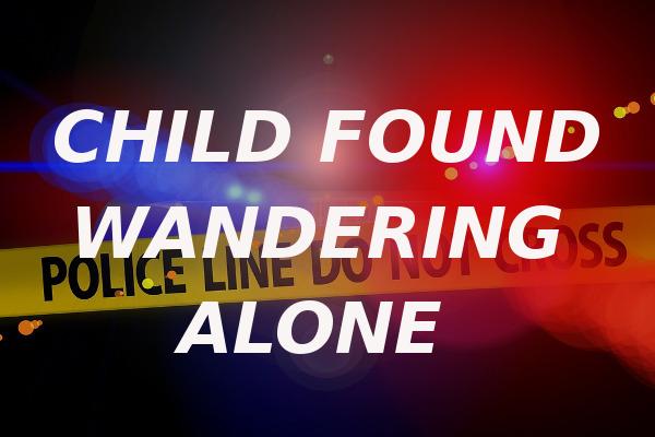 child found wandering alone