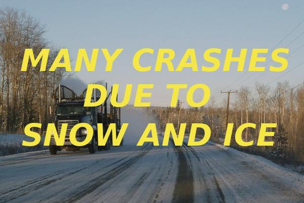 many crashes snow and ice