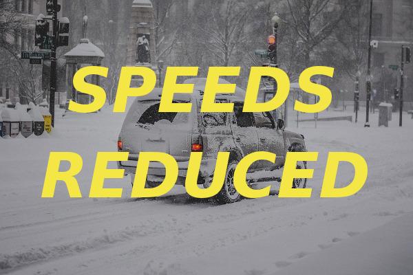 speeds reduced