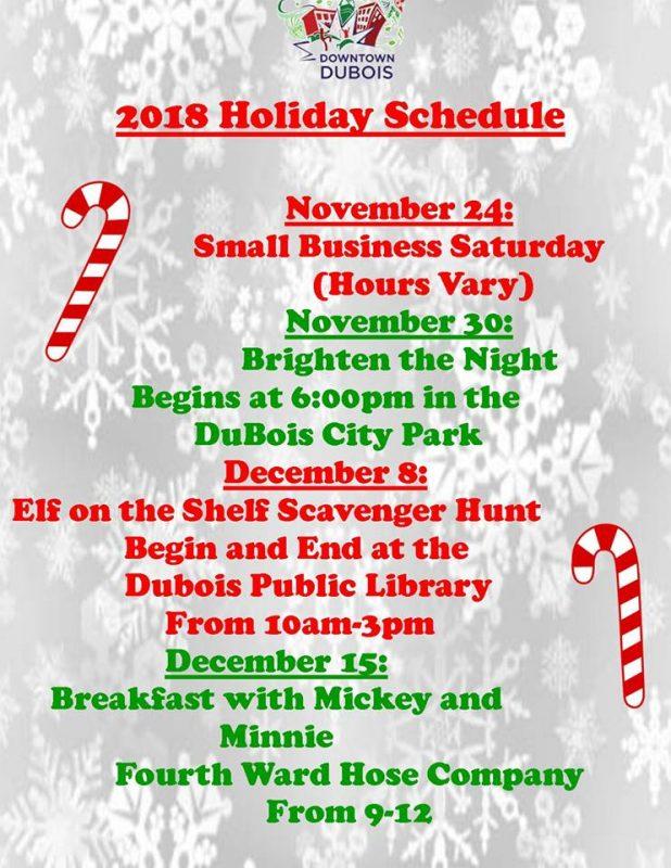 Downtown DuBois Holidays 2018