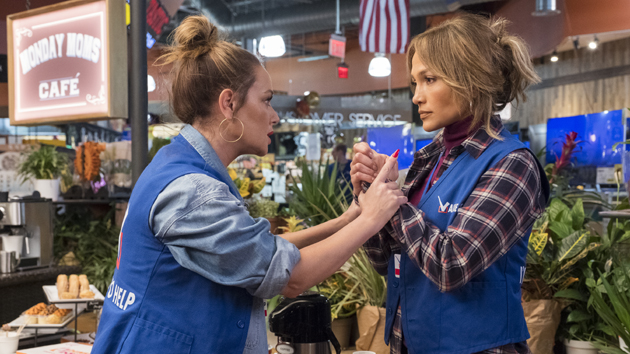 """Leah Remini and Jennifer Lopez in """"Second Act""""; Barry Wetcher/STX"""