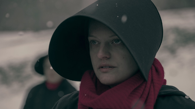 "Elisabeth Moss as Offred in Hulu's ""The Handmaid's Tale""; George Kraychyk/Hulu"