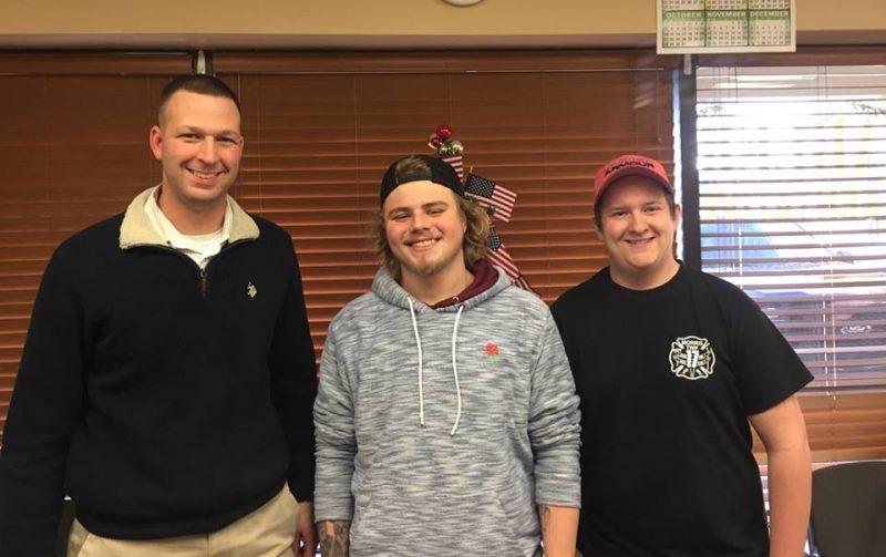 Matt Gabler two DuBois students