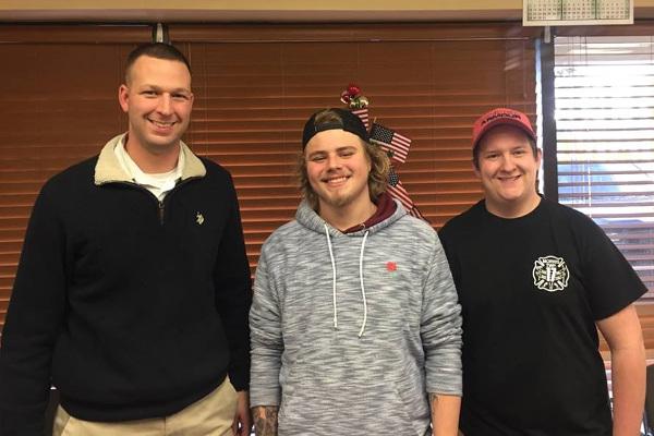 Matt Gabler two DuBois students small