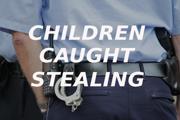 children caught stealing