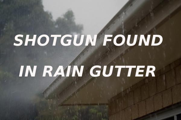 shotgun found rain gutter