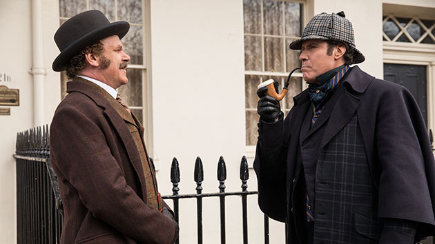 """L-R: John C. Reilly and Will Ferrell in """"Holmes & Watson""""; Giles Keyte/© 2018 CTMG, Inc."""