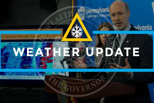 Weather Update Governor Pennsylvania