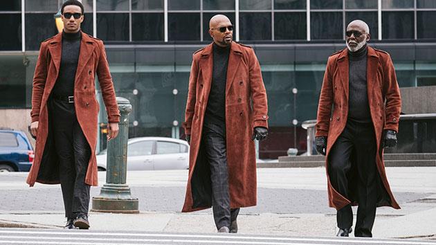 L-R: Jesse Usher, Samuel L. Jackson and Richard Roundtree; Kyle Kaplan/Warner Bros. Pictures