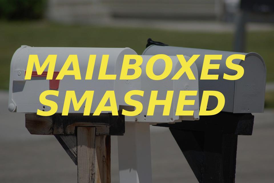 mailboxes smashed