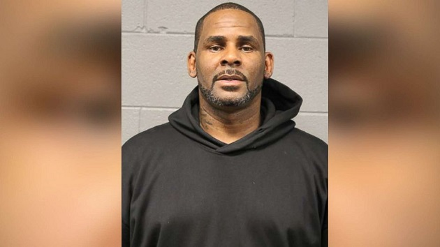 (Chicago Police Department)  R. Kelly, seen in his mugshot after surrendering to Chicago police on Feb. 22, 2019, has been indicted on 10 counts of felony criminal sexual abuse.