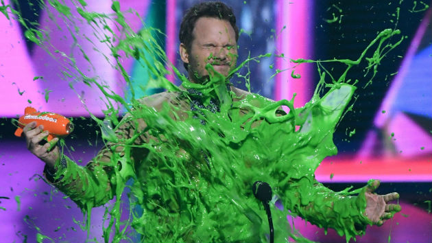 Chris Pratt gets slimed - VALERIE MACON/AFP/Getty Images