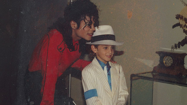Michael Jackson and Wade Robson; courtesy HBO