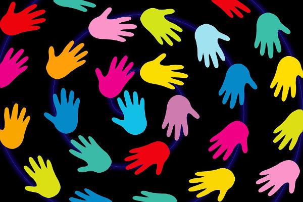 hands help volunteer support