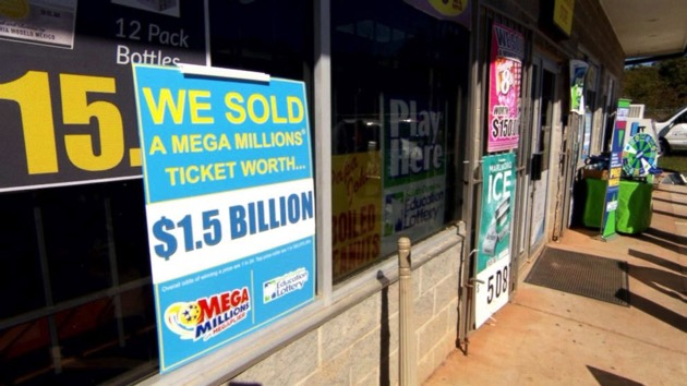 (ABC News)  A signs stands outside a KC Mart in Simpsonville, S.C.