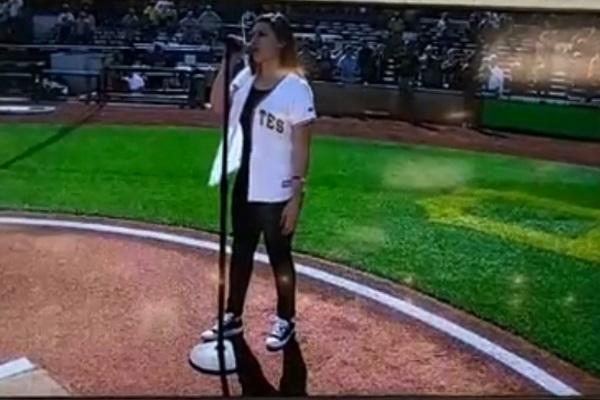 Dominique Martino National Anthem Pirates