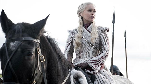 Emilia Clarke as Daenerys Targaryen; Helen Sloan/HBO