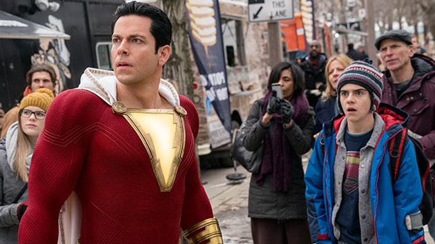 "L-R: Zachary Levi and Jack Dylan Grazer in ""Shazam!""; Steve Wilkie/Warner Bros. & DC Comics"