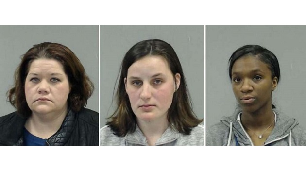 Left to right: Maura Healy, 38, Stephanie Radke, 24, and Mariah Flemister, 20. (Downers Grove Police Department)