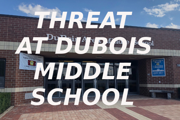 threat DuBois Middle School