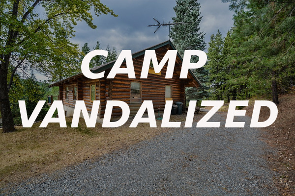 camp vandalized