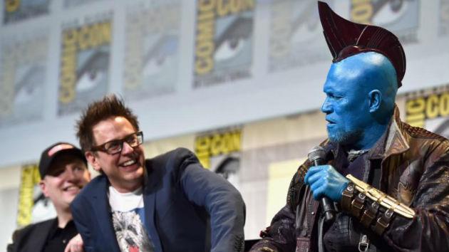 (L-R) Marvel Studios President Kevin Feige, James Gunn, Michael Rooker/Marvel Studios