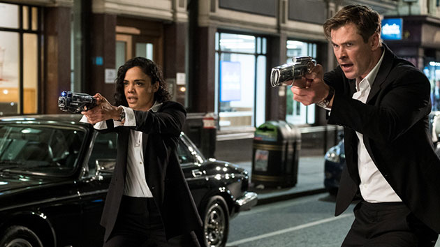 """Tessa Thompson and Chris Hemsworth in """"Men in Black: International""""; Giles Keyte/Sony Pictures Entertainment"""