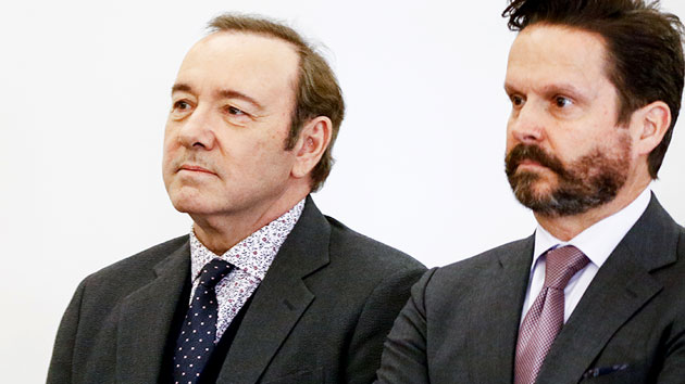 Kevin Spacey and attorney Alan Jackson; Nicole Harnishfeger-Pool/Getty Images