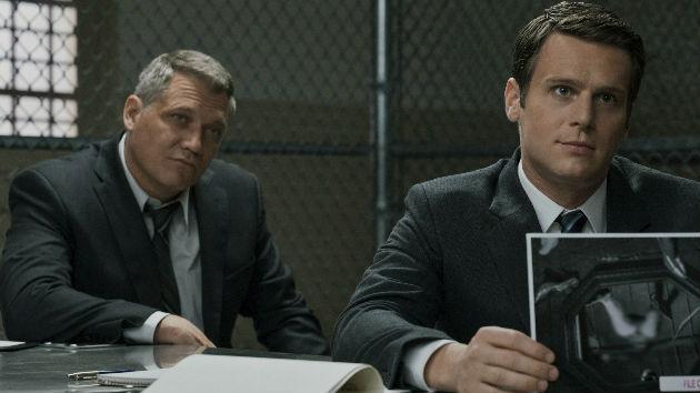 L-R: McAllany, Groff -- Patrick Harbron/Netflix