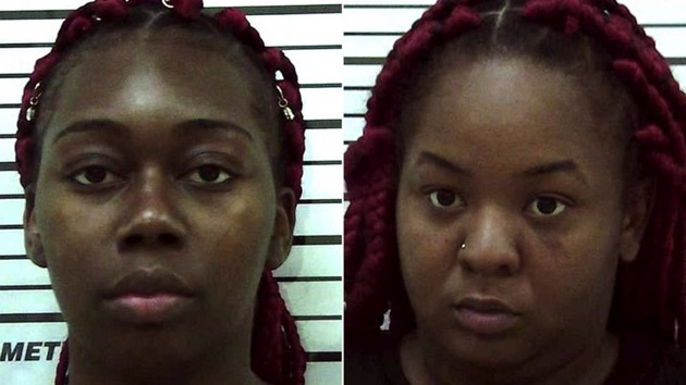 Karen Lashun Harrison and Carneata Clark in police booking photos. (Colquitt County Sheriffs Office)
