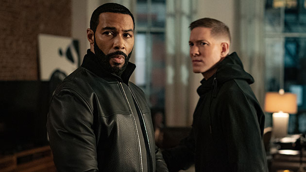 L-R: Omari Hardwick as Ghost and Joseph Sikora as Tommy; image courtesy Starz