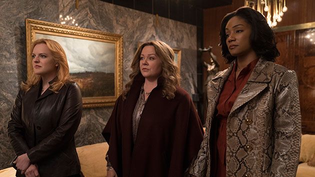 """(L-R) Elisabeth Moss, Melissa McCarthy and Tiffany Haddish in """"The Kitchen""""; Alison Cohen Rosa/Warner Bros. Pictures"""