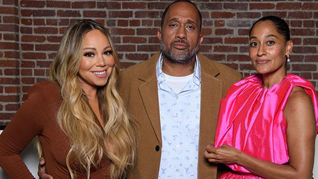 L-R: Mariah Carey, 'mixed-ish' creator Kenya Barris, producer and star Tracee Ellis Ross; ABC/Image Group LA