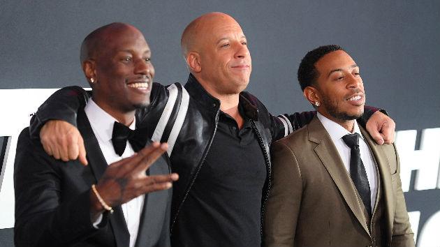 L-R: Tyrese, Vin Diesel, Ludacris -- Photo by Dimitrios Kambouris/Getty Images