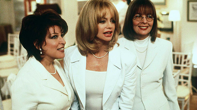"""L-R: Bette Midler, Goldie Hawn and Diane Keaton in """"The First Wives Club""""; Getty Images"""