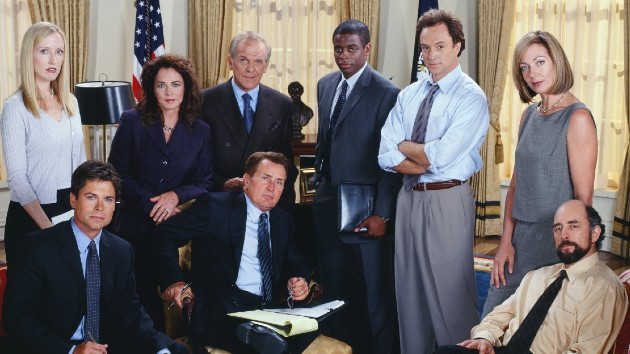 """""""The West Wing"""" cast -- Photo by: James Sorensen/NBCU Photo Bank"""