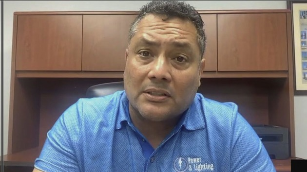 Benny Diaz, of Miami, says the rental home across the street from his is being used for parties and they may be helping the coronavirus spread. - (ABC News)